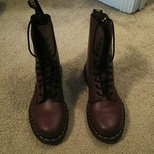 1490 Cherry Red Dr Martens Boots